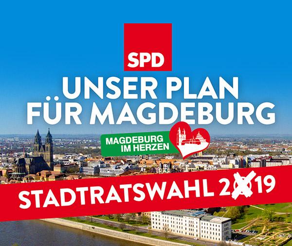 Programm und Team der SPD Magdeburg zur Stadtratswahl 2019