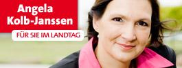 Zur Homepage von Justizminsterin Dr. Angela Kolb