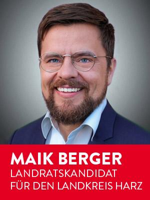 Zur Homepage von Maik Berger, Landratskandidat für den Landkreis Harz