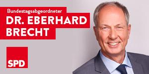 Zur Homepage von Dr. Eberhard Brecht, MdB