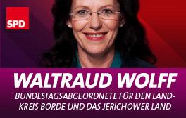Zur Homepage der SPD-Bundestagsabgeordneten Waltraud Wolff
